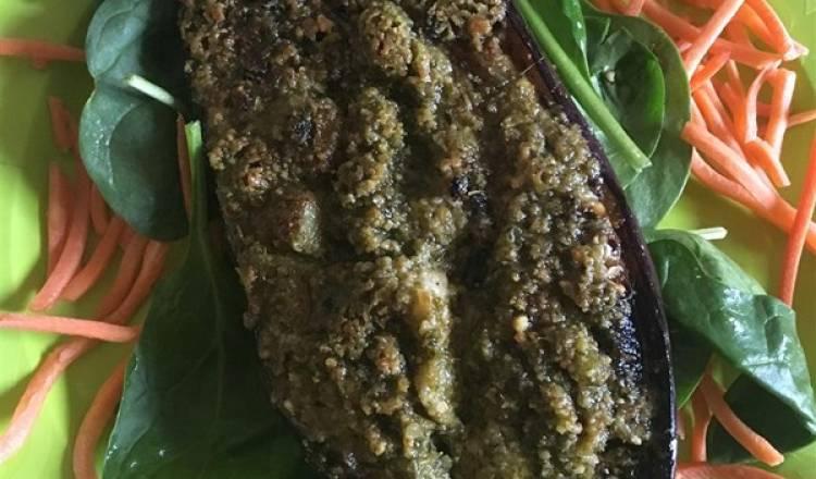 Eggplants With Pesto