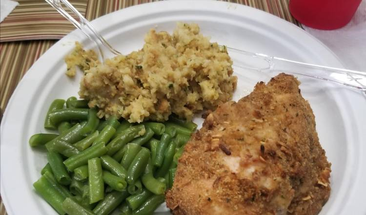 French Onion-Breaded Baked Chicken