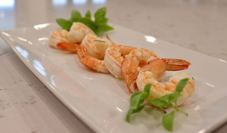 Herbed Shrimp Scampi in a Pouch