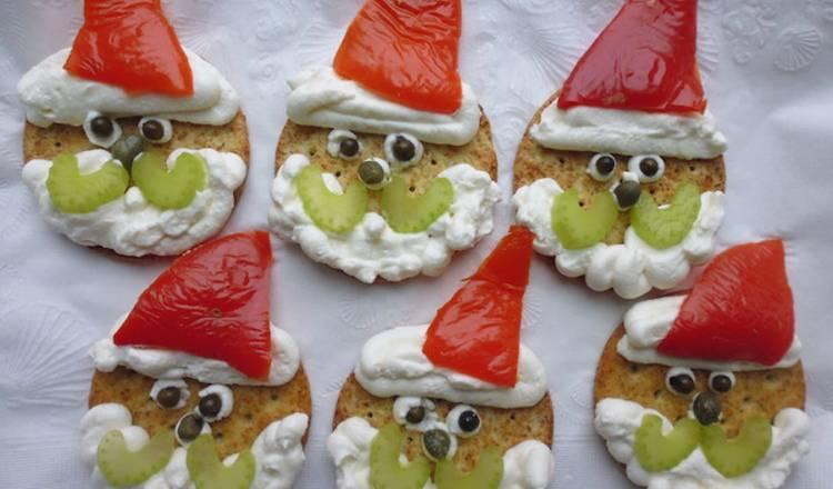 Santa Finger Food for Christmas